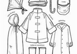 Spring Clothes Coloring Pages Winter Clothes Coloring Page Free for Kids