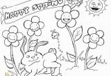 Spring Coloring Pages Printable for Adults Happy Spring Coloring Pages Place Pinterest
