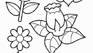 Spring Flower Coloring Pages for toddlers Spring Flowers Coloring Page
