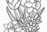 Spring Flowers Coloring Pages Flower Page Printable Coloring Sheets