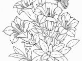 Spring Flowers Coloring Pages for Adults Spring Flowers Coloring Page Flowers Cloring Pages Printable