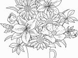 Spring Flowers Coloring Pages for Kids Colouring In Page Answers for Samples From Floral Beauty