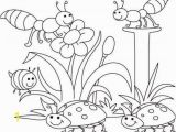 Spring Flowers Coloring Pages for Kids Spring Bugs Coloring Pages