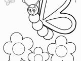 Spring Flowers Coloring Pages for Preschoolers Silly butterfly Coloring Page Coloring Pinterest