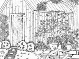 Spring Scene Coloring Pages Coloring Page for Grown Ups Garden Scene