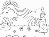 Spring Scene Coloring Pages Free Printable Rainbow Coloring Pages for Kids