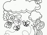 Spring Scene Coloring Pages Free Printable Spring Coloring Pages for Adults Printable