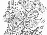 Spring Trap Coloring Page butterflies and Bees Adult Coloring Page