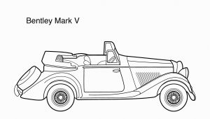 Sprint Car Coloring Page Super Car Bentley Mark 5 Coloring Page for Kids Printable