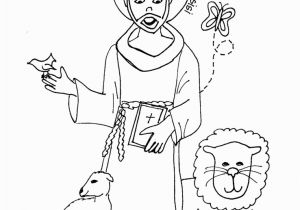 St Francis Of assisi Printable Coloring Page Saints Coloring Pages Printable Catholic Saints