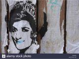St James Park Wall Mural Diana Königin Der Herzen Stockfotos & Diana Königin Der