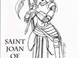 St Joan Of Arc Coloring Page Saint Joan Arc Drawing Sketch Coloring Page