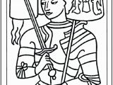 St Joan Of Arc Coloring Page Saint Joan Of Arc Coloring Page