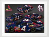 St Louis Cardinals Wall Mural St Louis Cardinal Nascar Car Art Print by Ernhrtfan