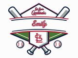 St Louis Cardinals Wall Mural St Louis Cardinals Personalized Name Giant Mlb Transfer Decal