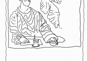 St Matthew Coloring Page Saint Matthew and the Angel Coloring Pages From Our Religious