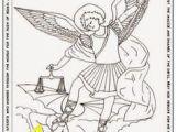 St Michael Coloring Page Preschool Religious