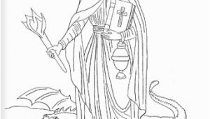 St Michael Coloring Page Saint Martha Catholic Coloring Page Feast Day is July 29
