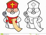St Nicholas Coloring Page Funny St Nicholas Stock Vector Illustration Of Drawing