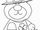 St Patrick S Day Coloring Pages Saint Patrick S Day Bear Coloring Page
