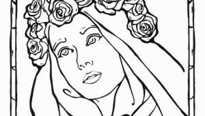 St Rose Of Lima Coloring Page St Rose Of Lima