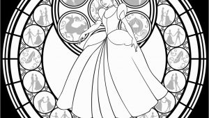 Stained Glass Disney Coloring Pages for Adults Cinderella Stained Glass Vector Line Art by Akili Amethyst
