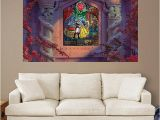 Stained Glass Wall Mural Beauty and the Beast Stained Glass Mural Huge Ficially