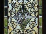 Stained Glass Wall Mural Door Wall Sticker Stained Glass with Bevels Self