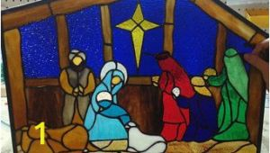 Stained Glass Wall Mural Vidrieras Navidad