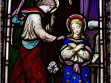 Stained Glass Wall Mural Wall Mural Vinyl Annunciation Birth Of Jesus
