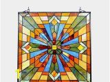 Stained Glass Wall Murals Chloe Tiffany Style Mission Design Window Panel Suncatcher