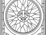 Stained Glass Window Coloring Pages Glass Free Clipart 71
