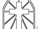 Stained Glass Window Coloring Pages Printable Stained Glass Cross Coloring Page