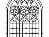 Stained Glass Window Coloring Pages Stock Vector