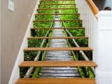 Stair Riser Murals 3d forest Path View 367 Stairway Stairs Risers Stickers Mural