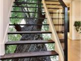 Stair Riser Murals 3d Green Trees Stair Risers Decoration Mural Vinyl Decal