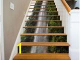 Stair Riser Murals 3d River Waterfall Stair Risers Decoration Mural Vinyl Decal