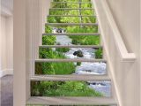 Stair Riser Murals 3d Stream 355 Stair Risers Decoration Mural Vinyl Decal