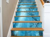 Stair Riser Murals Details About 3d Blue Stars Sky Stair Risers Decoration Mural
