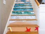 Stair Riser Murals Details About 3d Sky Sea Beach Stair Risers Decoration Mural