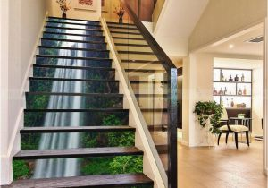 Staircase Wall Mural Ideas 3d Flying Waterfall 110 Stair Risers 3d In 2019