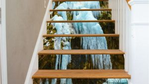Staircase Wall Mural Ideas 3d Ice and Snow 752 Stair Risers In 2019