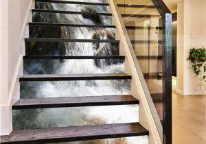 Staircase Wall Mural Ideas 3d River Turbulent 751 Stair Risers