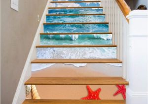 Staircase Wall Mural Ideas Details About 3d Sky Sea Beach Stair Risers Decoration