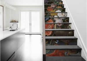 Staircase Wall Mural Ideas Stair Sticker Masterpiece Flowers Fashion