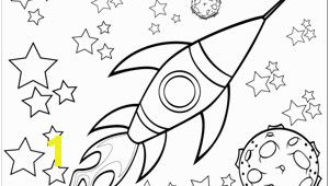 Star Coloring Pages for Kids A Rocketship Flies by A Planet and Through the Stars In This