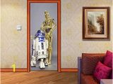 Star Destroyer Wall Mural Amazon R2d2 C 3po Star Wars Door Wrap Decal Wall