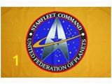Star Trek Wall Mural Bridge Amazon Star Trek Starfleet Mand Flag Banner