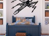 Star Wars Bedroom Wall Murals X Wing Fighter Wall Decal Star Wars Ships Wall Decal Star