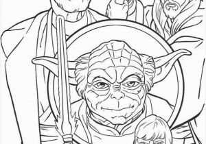 Star Wars Coloring Pages Disney Jedi Knights and Yoda Coloring Page